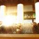 Der Adventskranz verleiht dem Heckers Restaurant eine festliche Stimmung.