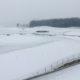 Der Golfplatz am Restaurant Heckers versinkt unter einer weißen Schneedecke.