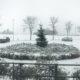 Winter im Heckers Restaurant - Draußen fängt es an zu schneien und verleiht der umliegenden Natur ein besonderes Flair.