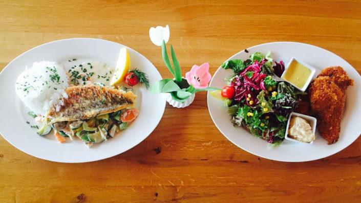 Kulinarische Highlights der Heckers Restaurant Speisekarte, eine Symbiose aus deutscher und mediterraner Küche.