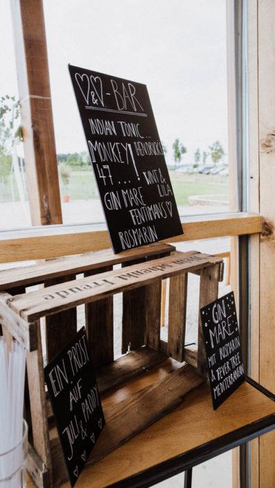 Cocktailbar zur Hochzeitsfeier im Veranstaltungsraum vom Heckers Restaurant.
