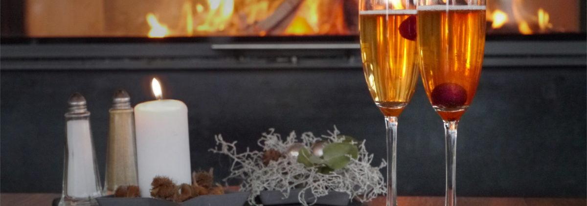 Der Winter-Secco ist eine Kreation des Restaurant Heckers und bietet fruchtigen Genuss während des Winters.